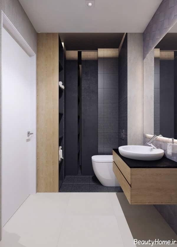 طراحی دکوراسیون شیک و زیبا سرویس بهداشتی کوچک