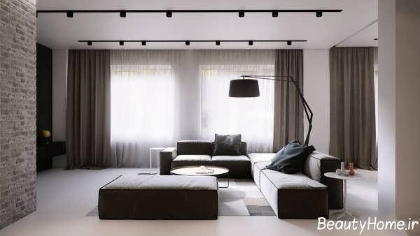 طراحی شیک و متفاوت اتاق نشیمن