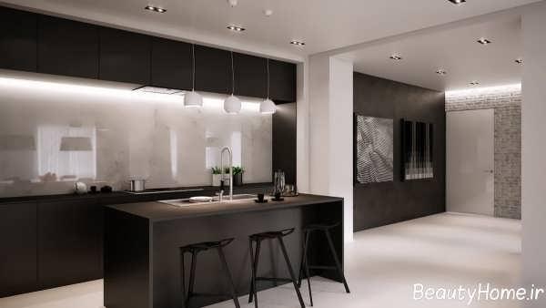 طراحی زیبا و متفاوت آشپزخانه مدرن