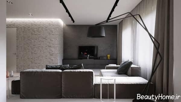 طراحی مدرن و زیبا اتاق نشیمن