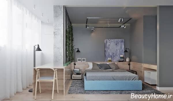 طراحی زیبا و متفاوت اتاق خواب برای زوج های جوان