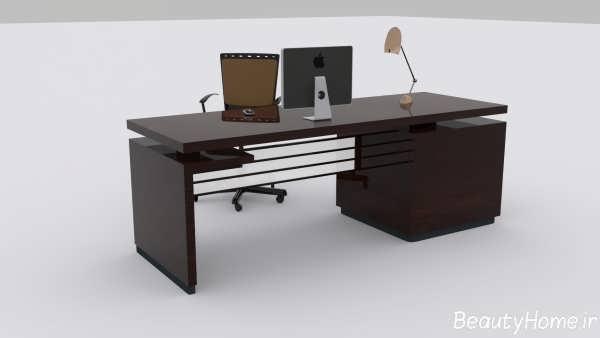 میز کامپیوتر با طراحی شیک و متفاوت