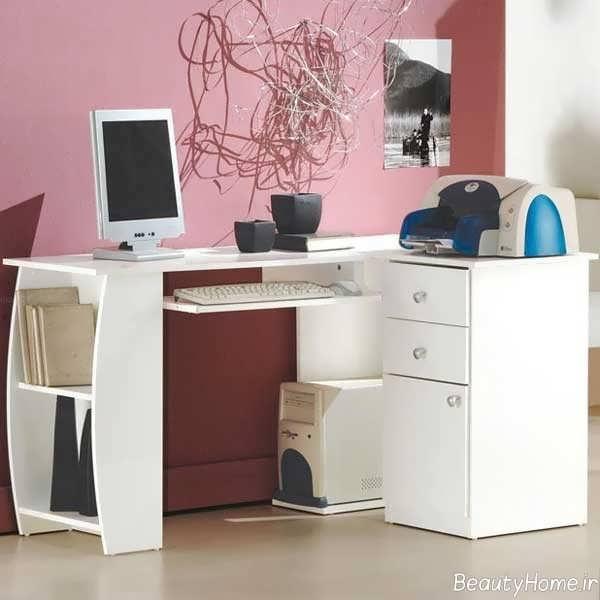 مدل میز کامپیوتر با طراحی شیک و جالب