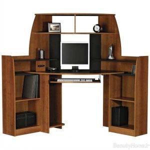 مدل میز کامپیوتر با طراحی کاربردی