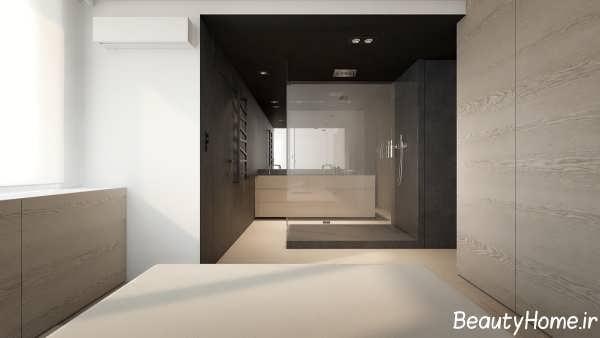 طراحی دکوراسیون خانه یک خوابه شیک و زیبا