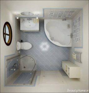 طراحی شیک و زیبا دکوراسیون حمام کوچک