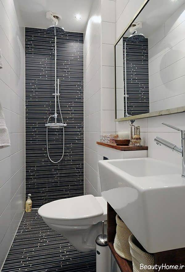 طراحی دکوراسیون زیبا و مدرن برای حمام های کوچک