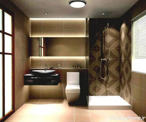 طراحی زیبا و متفاوت دکوراسیون حمام کوچک