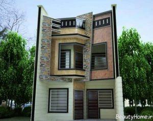 نمای مدرن ساختمان های سه طبقه