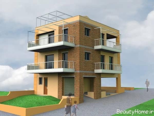 طراحی شیک و کاربردی نمای خارجی ساختمان