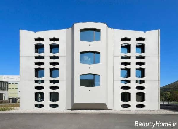 طراحی نمای ساختمان با رنگ روشن