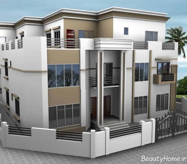 نمای مدرن و شیک ساختمان