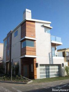 جدیدترین طراحی نما برای ساختمان سه طبقه