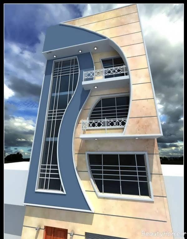 نمای مدرن و زیبا ساختمان