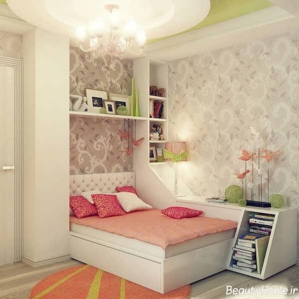 کاغذ دیواری برای اتاق خواب کوچک