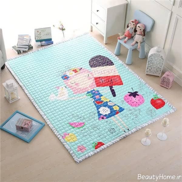 مدل فرش اتاق کودک با طرح های فانتزی