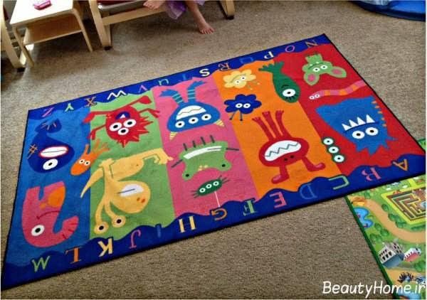 انواع مدل های جدید فرش اتاق کودک