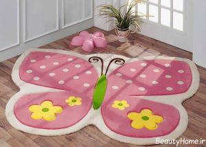 مدل فرش اتاق کودک دخترانه با طرح های فانتزی
