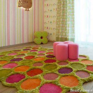 مدل فرش اتاق کودک با طرح های شیک و زیبا