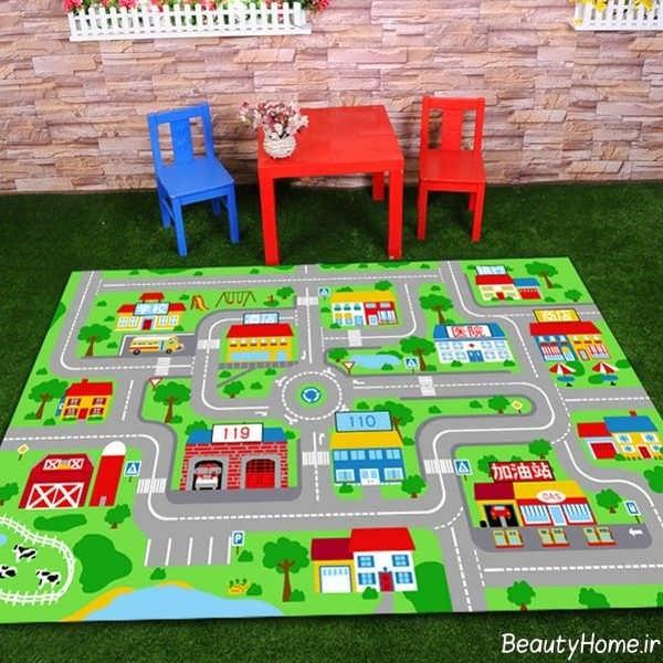 مدل فرش فانتزی اتاق کودک