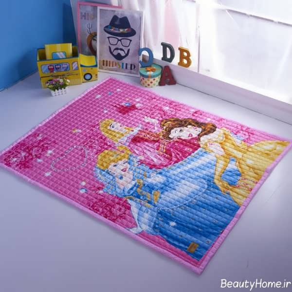 انواع مدل های فرش اتاق کودک