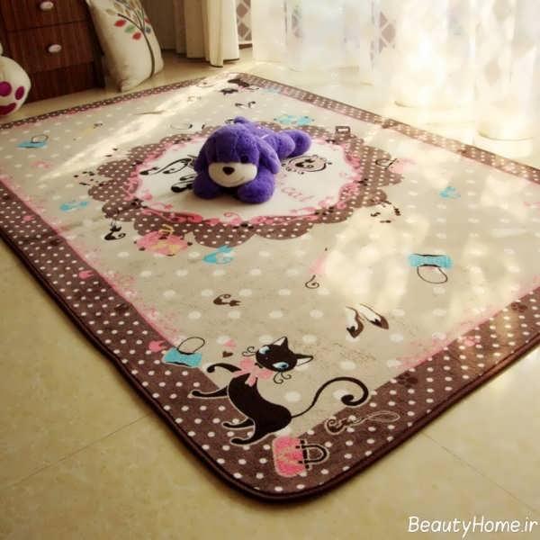طرح های زیبا و شیک فرش اتاق کودک