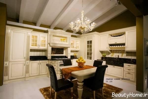 کابینت های آشپزخانه با طرح رومی و کلاسیک