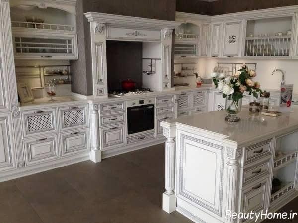 مدل کابینت سفید رومی