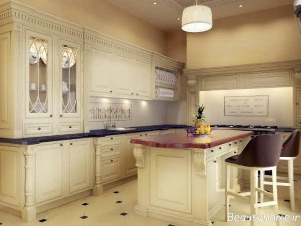 جدیدترین مدل های کابینت آشپزخانه با طرح رومی