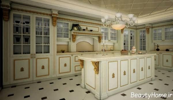 کابینت آشپزخانه رومی