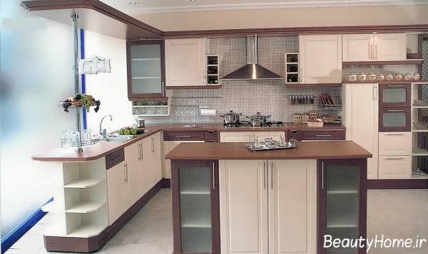 مدل های زیبا و شیک کابینت آشپزخانه با طرح کلاسیک