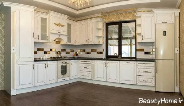 کابینت آشپزخانه با طرح های کلاسیک و رومی