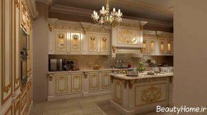 طرح های زیبا و جذاب کابینت های رومی آشپزخانه