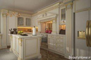 کابینت زیبا و شیک با طرح رومی