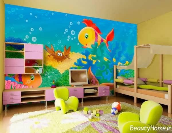 دکوراسیون شیک و کاربردی اتاق کودک دختر