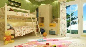 دکوراسیون اتاق خواب کودک با طراحی متفاوت