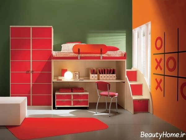 دکوراسیون قرمز اتاق کودک
