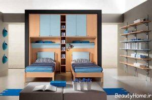 طراحی مدرن و جذاب اتاق خواب دخترانه دونفره
