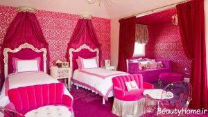 طراحی کاربردی اتاق خواب دخترانه نوجوان