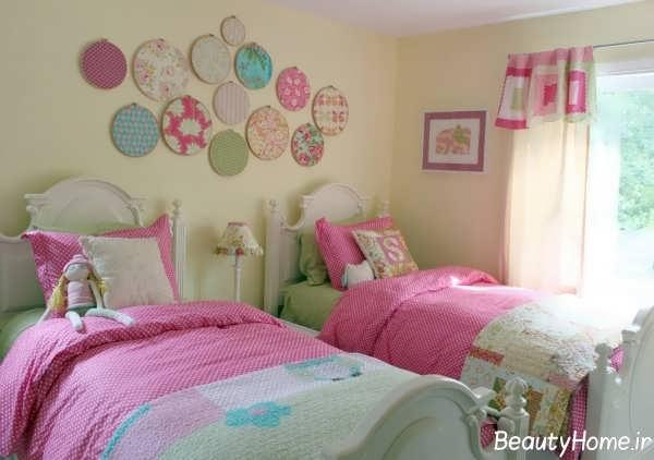 تزیین دیوار اتاق خواب دخترانه