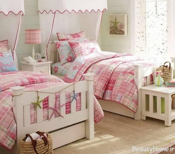 طراحی دکوراسیون زیبا و جذاب اتاق خواب دخترانه