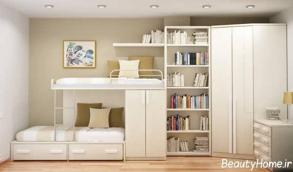 طراحی کاربردی و متفاوت اتاق خواب دخترانه
