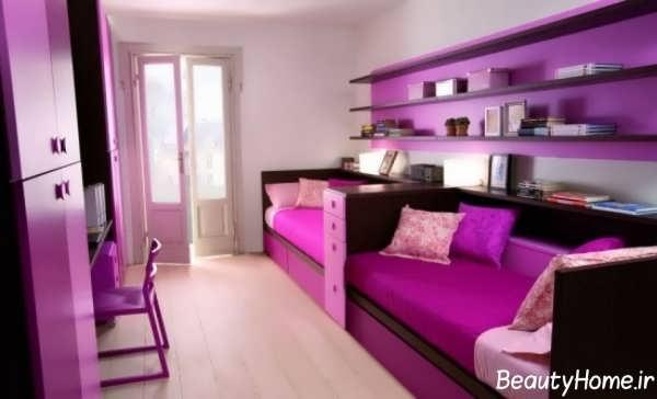 طراحی زیبا و کاربردی اتاق خواب دخترانه