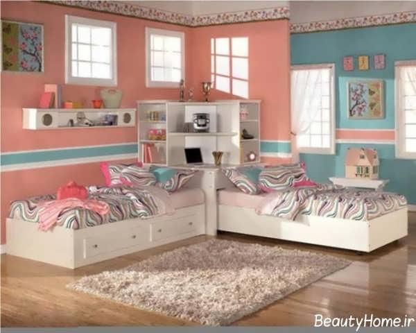 دکوراسیون داخلی زیبا و متفاوت اتاق خواب دخترانه