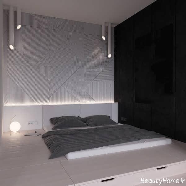 طراحی ساده و جذاب دیوار اتاق خواب