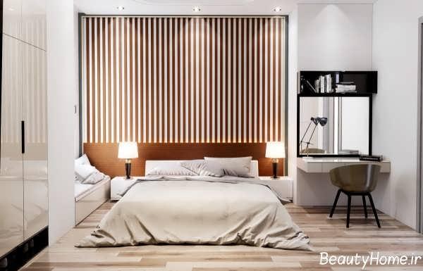 طراحی شیک و جذاب دیوار اتاق خواب