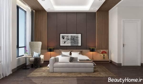 طراحی زیبا دیوار اتاق خواب
