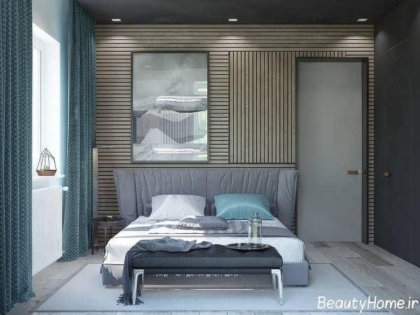 طراحی جذاب و متفاوت دیوار اتاق خواب