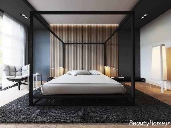 طراحی شیک و متفاوت دیوار اتاق خواب