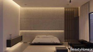 طراحی زیبا و ساده دیوار اتاق خواب